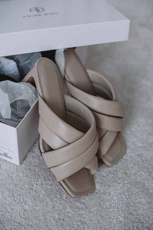 Anine Bing Cade Sandals Beige sko sandaler
