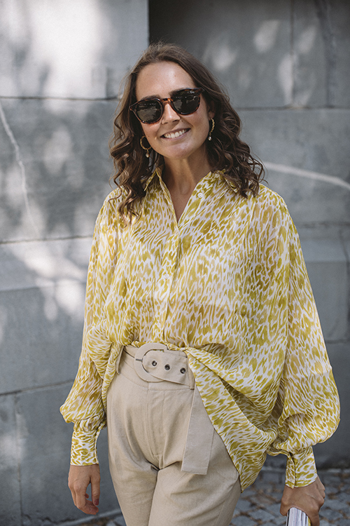 Anine Bing Caleb Shirt Marigold Leo bluse