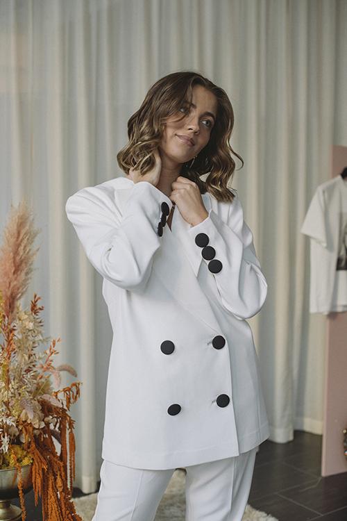 Anine Bing Claudia Blazer ABxHC White dressjakke