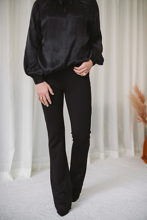 Anine Bing Dakota Pant Black bukse