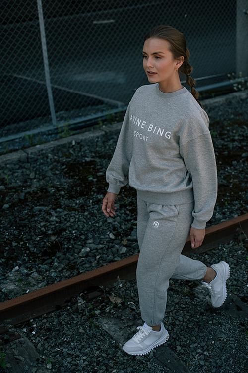 Anine Bing Evan Jogger Heather Grey joggebukse