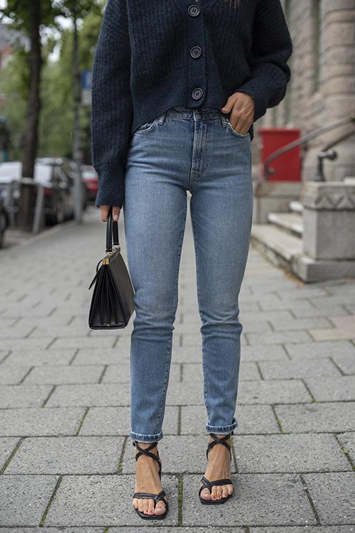 Anine Bing Jagger Jean Tide Vintage Blue jeans