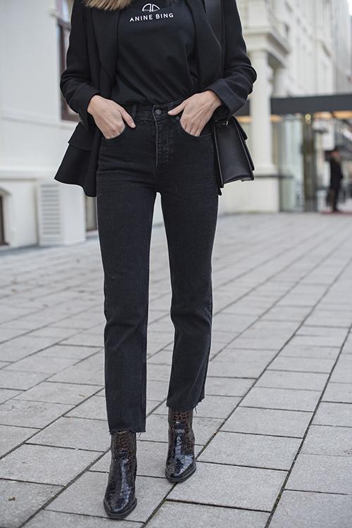 Anine Bing Lara Jeans Black bukser