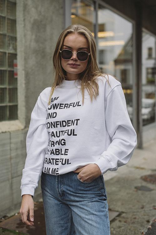 Ramona Sweatshirt Empowerment White