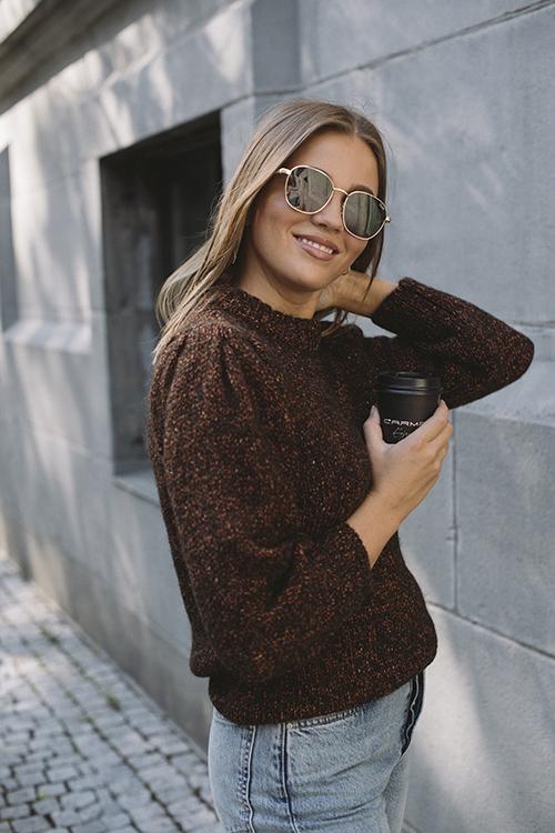 Anine Bing Rosalind Sweater Brown genser