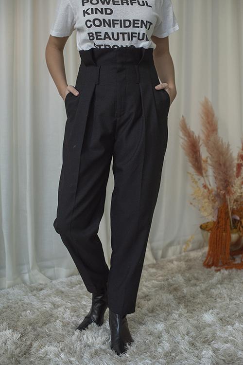 Anine Bing Yves Trouser Black dressbukse