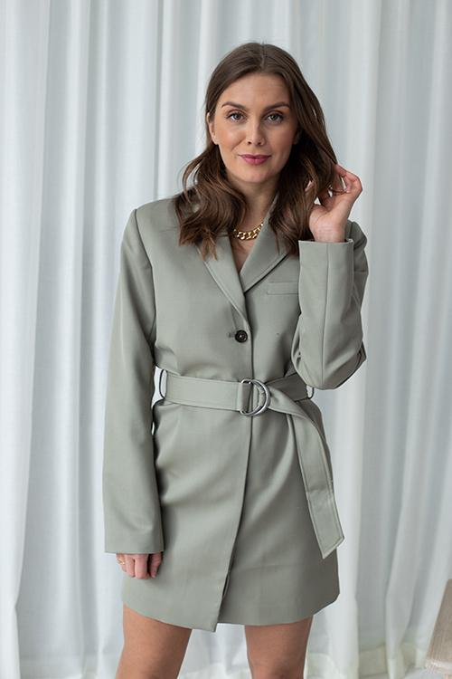 Anine Bing Campbell Dress Green Khaki kjole