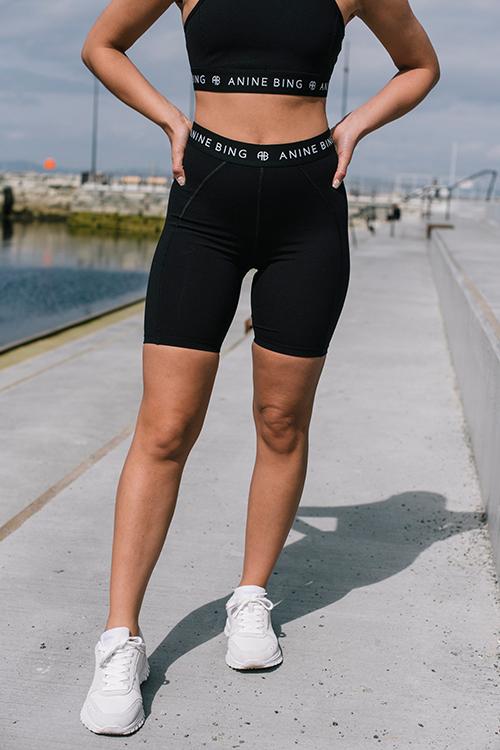 Anine Bing Carly Bike Short Black sykkeslshorts