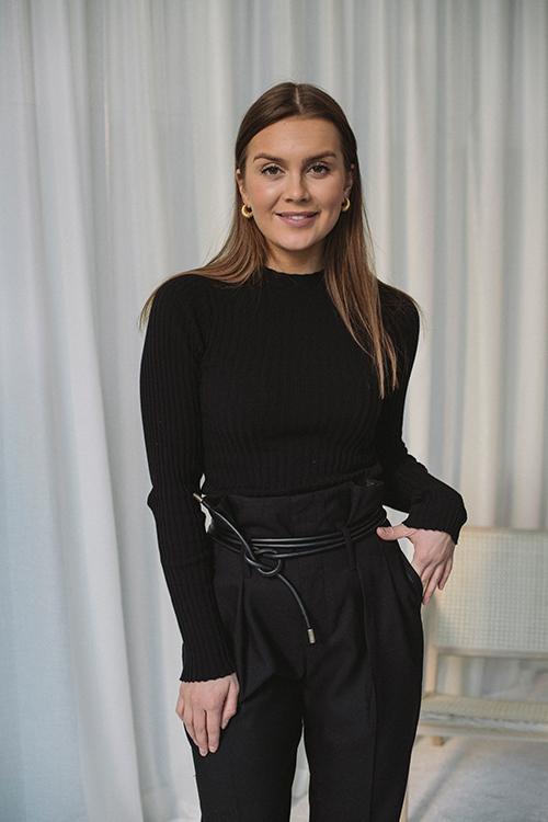 Anine Bing Cecilia Top Black genser