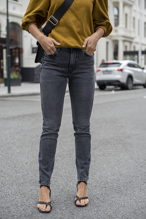 Anine Bing Jagger Jean Ash Grey jeans