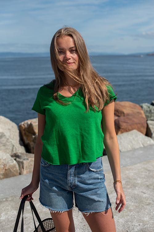 American Vintage Sonoma T-Shirt Grass t-skjorte