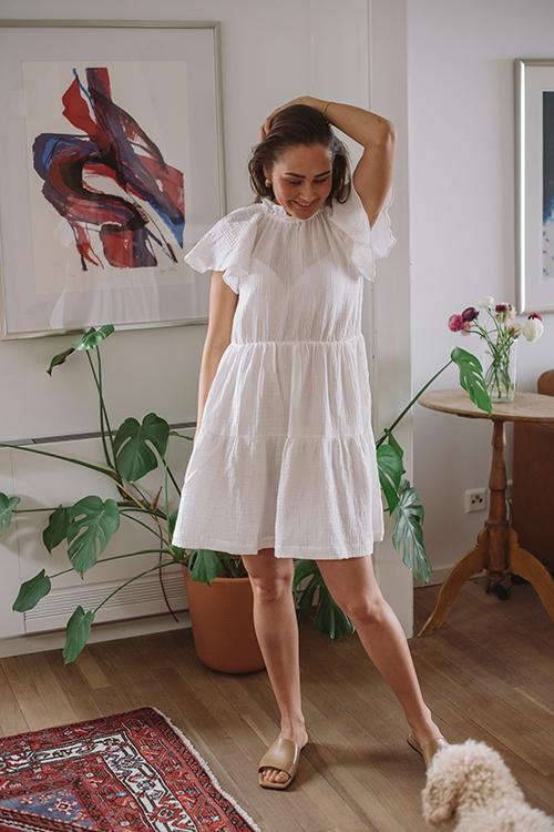 Arnie Says Saffron Gauze Dress Offwhite kjole