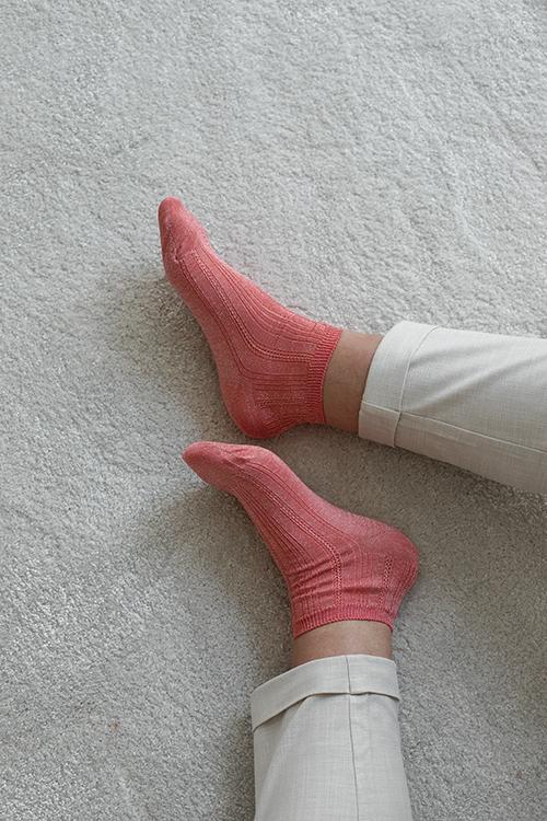 Becksöndergaard glitter dollie sock georgia peach sokker