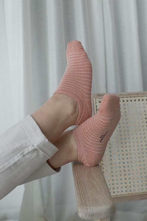 Becksöndergaard sneakie stripe sock dusty pink sokkker