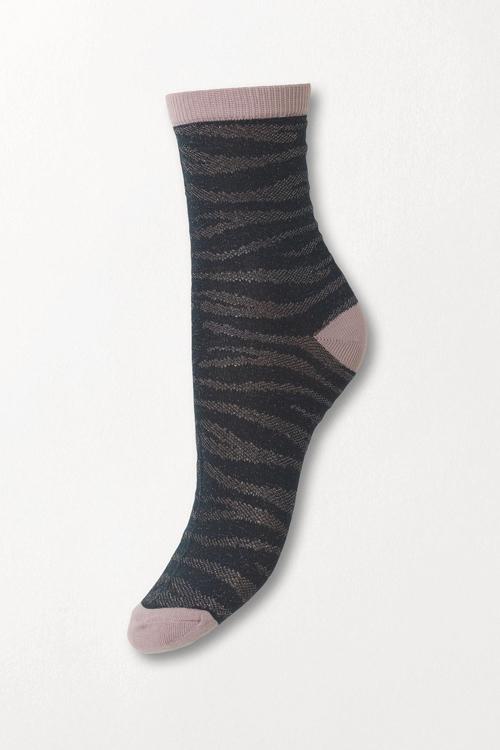 Becksöndergaard Zebra Glitzi Sock Darkest Spruce sokker