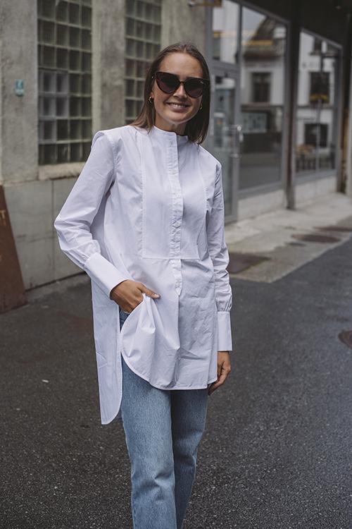 By Malene Birger Shaun Shirt Pure White skjorte