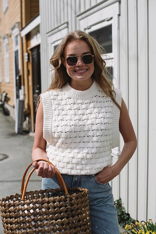 Cotton Knit Vest Vintage