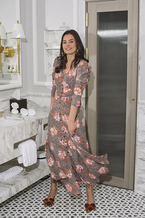 byTiMo Pre Spring Rouch Dress Spring kjole