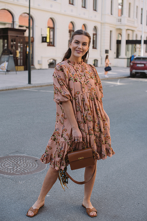 byTiMo Viscose Dobby Midi Dress Playful kjole