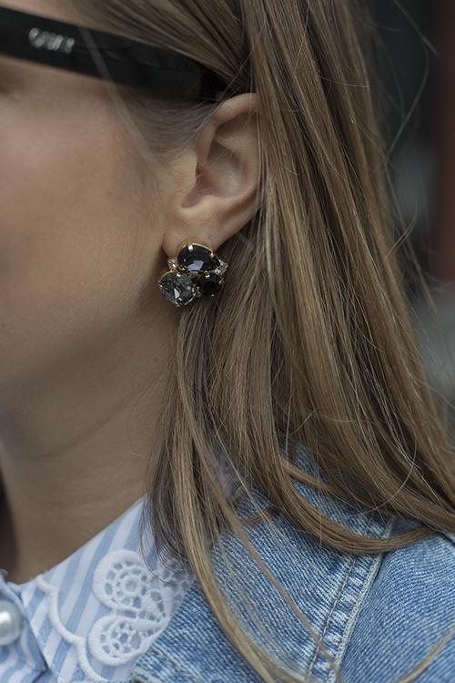 Caroline Svedbom Carolina Earring Gold Black Combo øredobber