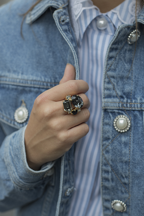 Carolina Ring Black Combo