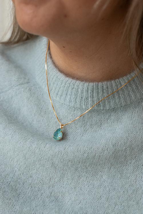 Caroline Svedbom Mini Drop Necklace Silky Sage Delite Combo smykke