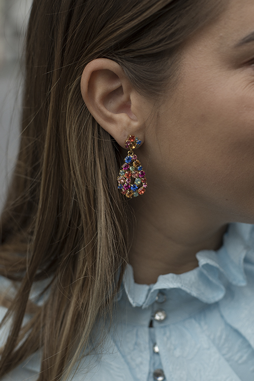 Mini Hanna Earring Gold Tutti Frutti