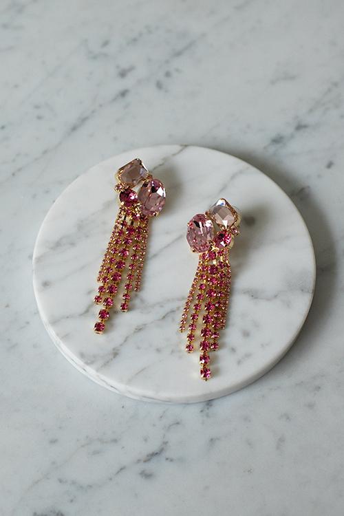 Caroline Svedbom Tara Earring Gold Pink Combo øredobber