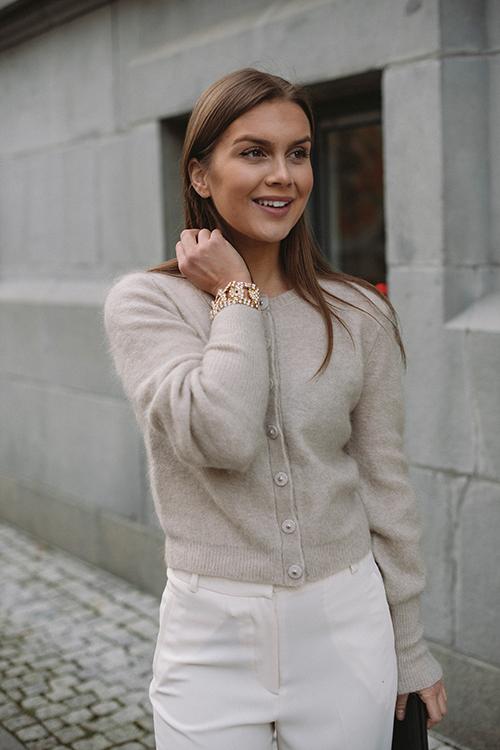 Cathrine Hammel Soft Petit Cardigan Warm Grey strikket jakke
