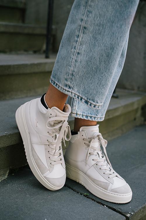 Copenhagen Studios Leather Mix Sneakers Eggshell joggesko