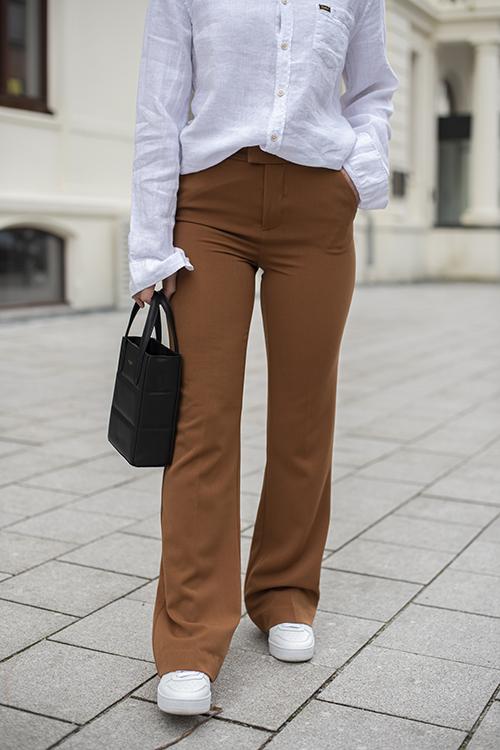 Camilla Pihl Bankers Pant Camel bukse