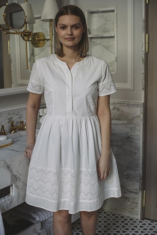 Camilla Pihl Cam Dress White kjole