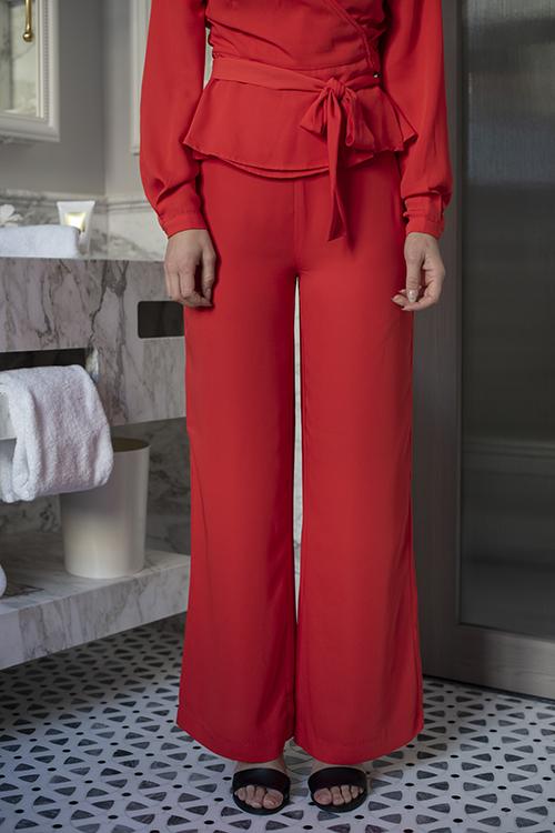 Camilla Pihl Vacation Trouser Brigth Red dressbukser