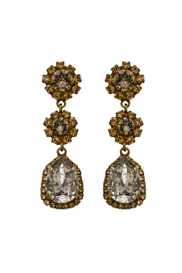 Caprice Trinity Earrings Gold øredobber