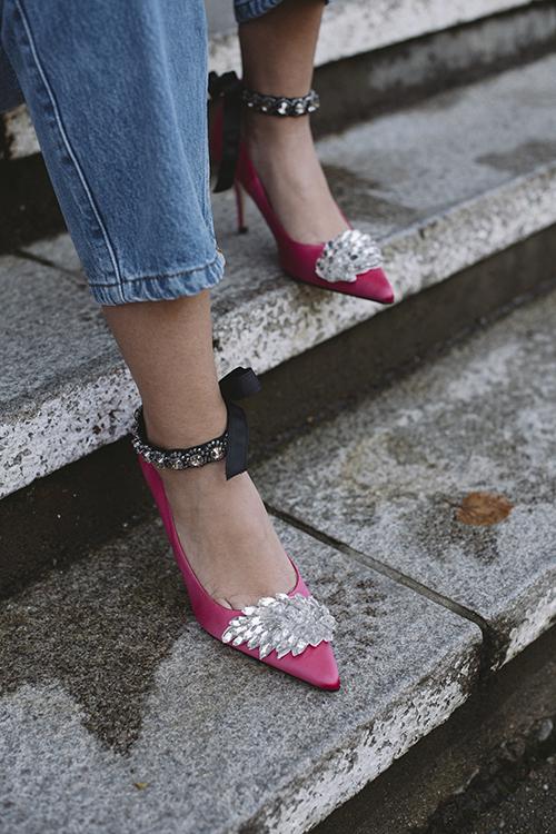 Custommade Aljo Wing Stillettoes Azealea Pink pumps