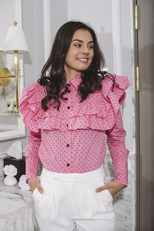 Custommade Camina Shirt Glory Pink bluse