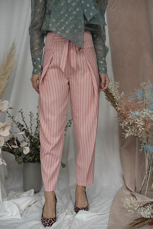 Custommade Kami By Numbers Pants Coral Pink bukse