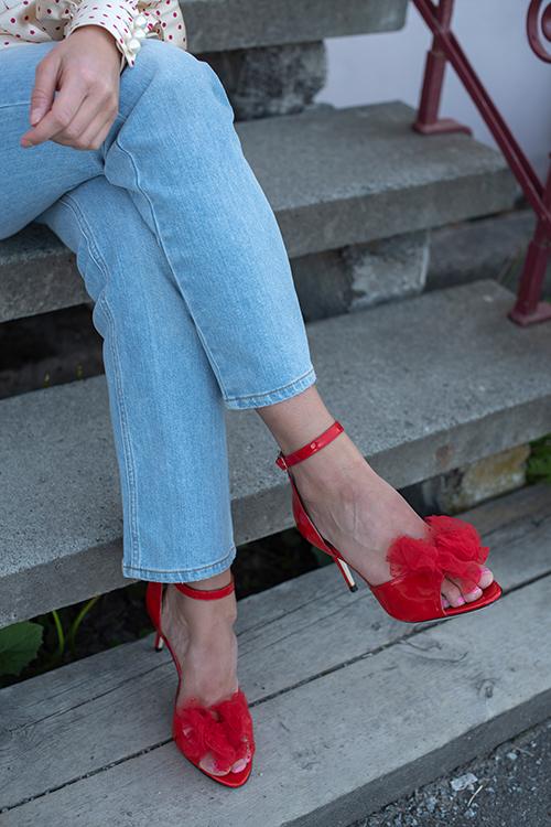 Marita Bow Sandal Persian Red