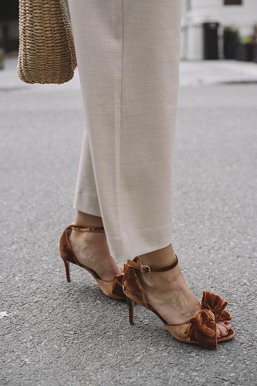 Custommade Marita Velvet Sandal Indian Tan Khaki sko sandaler
