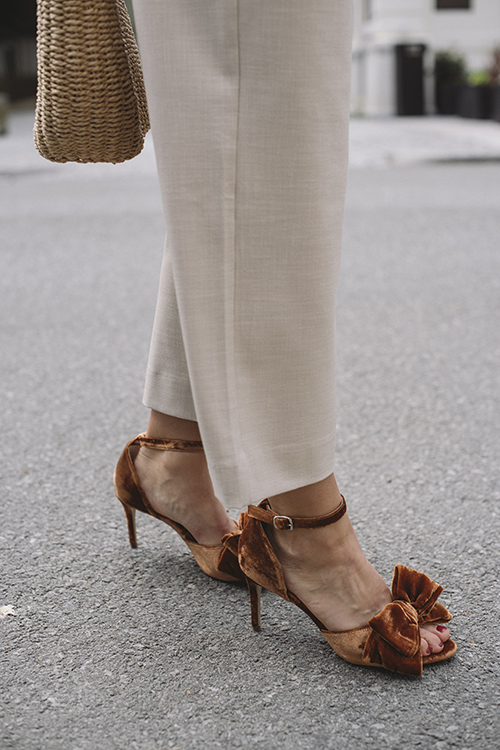 Marita Velvet Sandal Indian Tan Khaki