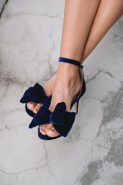 Marita Velvet Royal Blue