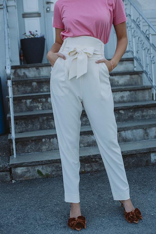 Custommade Pinja Pant Whisper White dressbukse