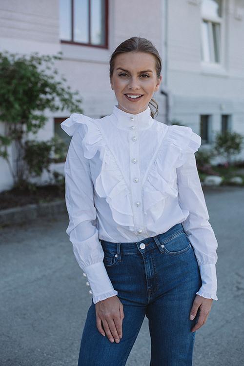 Custommade Bibi Blouse Bright White bluse