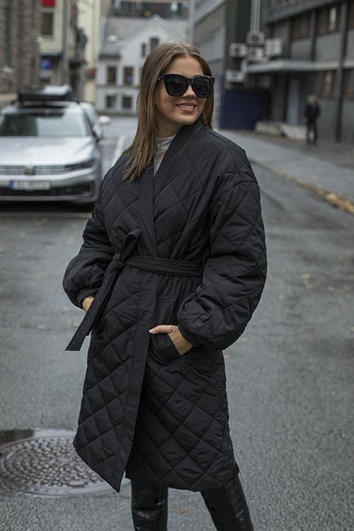 Custommade Gwen Coat Anthracite Black kåpe