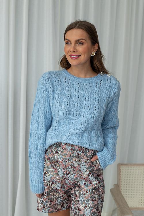 Custommade Tola Sweater Powder Blue genser