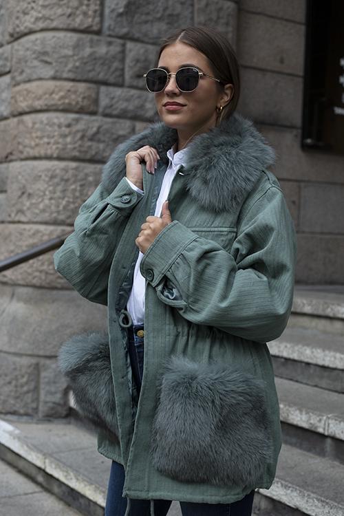 Custommade Windie Jacket Green jakke