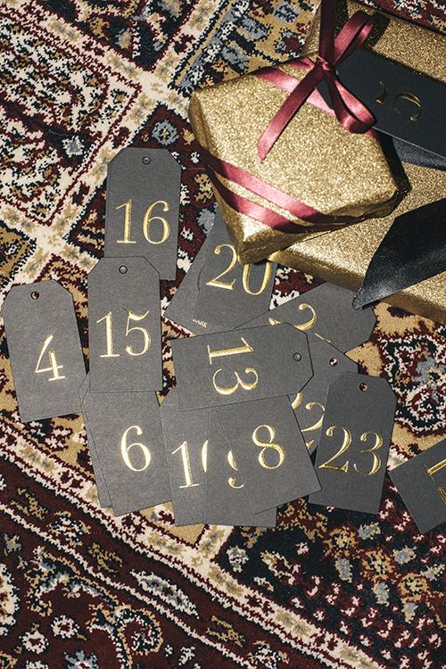 Dark Calendar Tags adventskalender