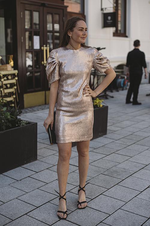 DAY Birger et Mikkelsen Glitter Dress Smoke kjole