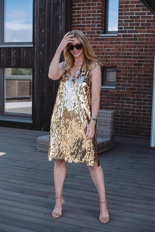 DAY Birger et Mikkelsen Plates Dress Rich Gold kjole