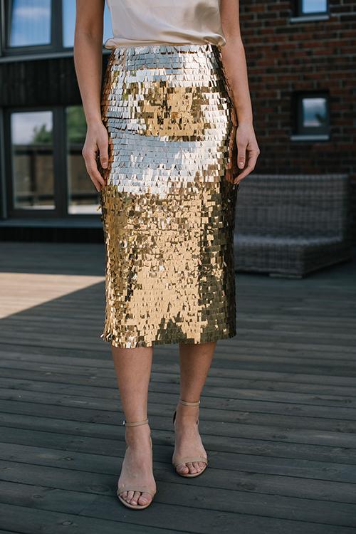 Plates Skirt Rich Gold